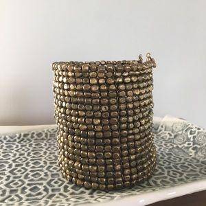 Anthropologie Adjustable Gold Cuff