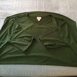 XL Lularoe Irma Green