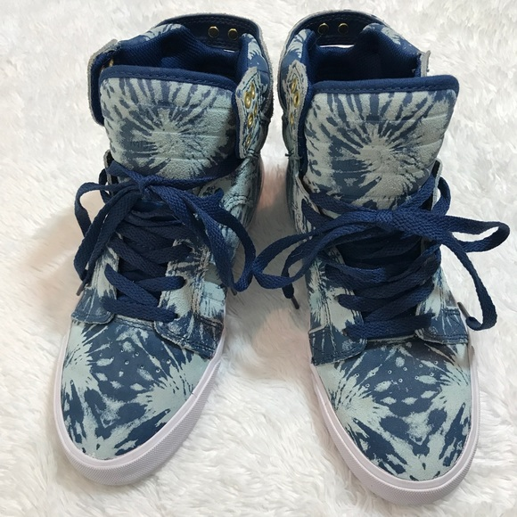 Supra Shoes - Supra Women Skytop High Top Sneakers In Navy  Blue e961d1dbf