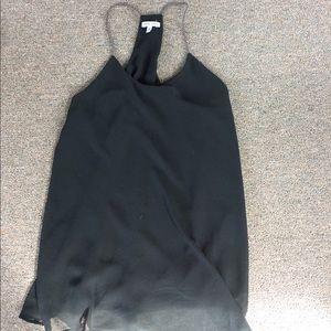 Black racerback dress tank