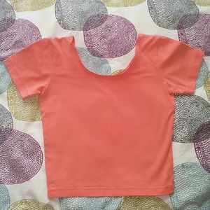 American Apparel short sleeve fitted crop top