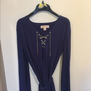 MK BLUE tunic style top silver hardware never worn
