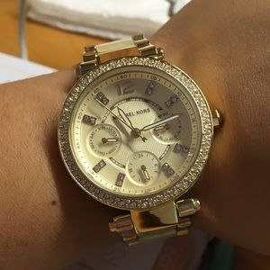 Authentic Gold Michael Kors Parker watch