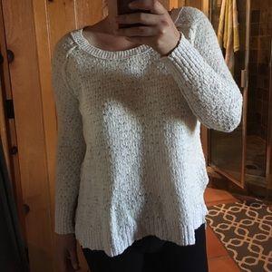 Free People cream white cotton sweater