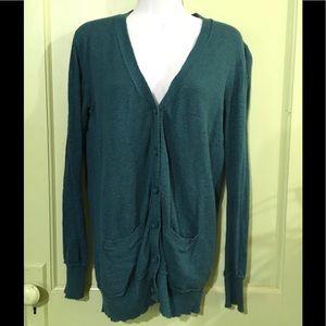 GAP - Teal XT Long LS Cardigan/Sweater