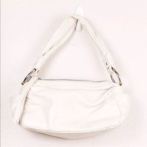 Coach Parker White Leather Hobo Bag Purse #13442