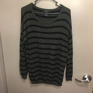Sweaters - Black and olive green sweater