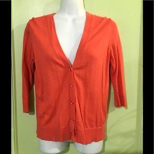 GAP - Orange/Salmon Button Front Cardigan/Sweater