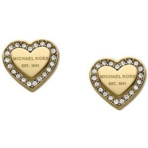 Michael Kors gold heart studs