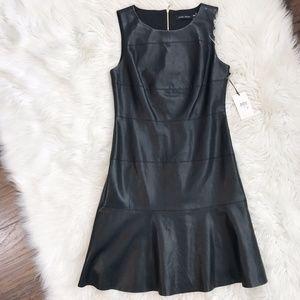 NWT Ivanka Trump Vegan Leather Drop Waist Dress