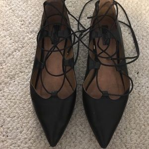 Topshop lace up flat