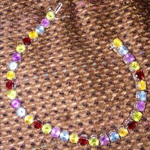 Jewelry - Sterling Silver and Gemstones Tennis Bracelet