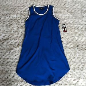 NWT ABS Allen Swartz BLUE sleeveless dress