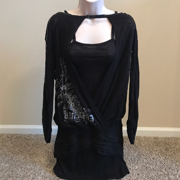 Salvage Tops - Salvage Black Blouse