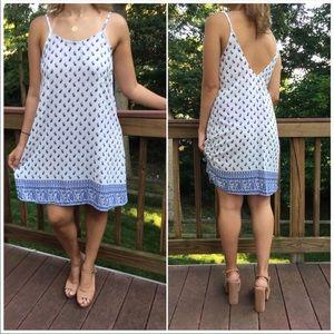 Dresses & Skirts - THE ROYAL BLUE PRINT MIDI DRESS