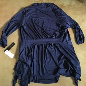 AB Studio Sweaters - NWT🌟Rayon/spandex navy blue open cardigan