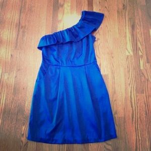 Size small one shoulder royal blue dress