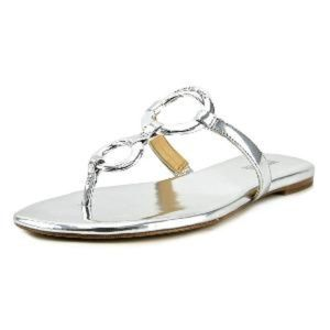 Michael Michael Kors Claudia Flat Sandal in Silver