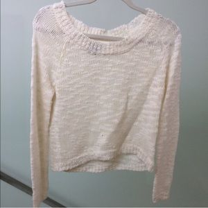 White Wet Seal Knit Sweater