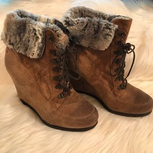Fur Trimmed Booties