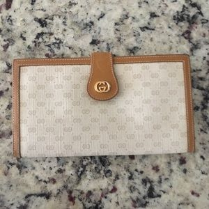 Authentic Gucci vintage tri-fold wallet