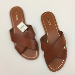 NWT J.Crew Brown Leather Sandals Cyprus 10