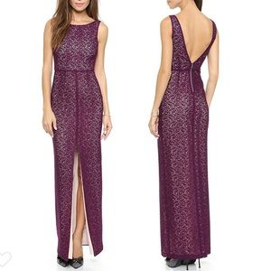 💋Host Pick💋Alice+Olivia purple Gemma lace gown