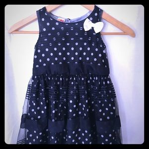 Other - 4t polkadot Navy blue and white dress