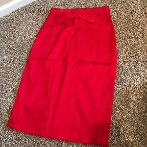 Forever 21 Red Pencil Skirt