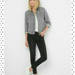 Gap 1969 grey denim jean jacket medium nwt