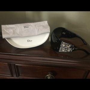 Authentic Dior sunglasses with Swarovski rocks