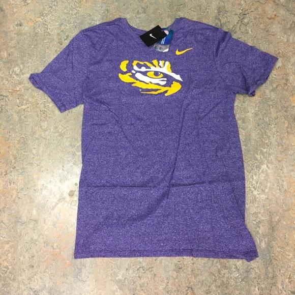 788a44a1347 Nike Shirts | Lsu Tigers Mens Marbled Logo Shirt Large | Poshmark