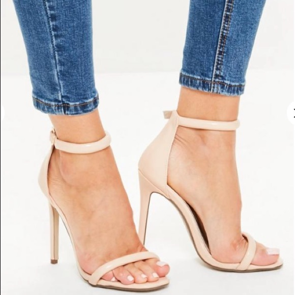 bde8e1d3035 Missguided Barely There Nude Strappy Sandals 7