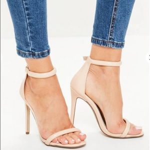 2221fb9c26 Missguided Shoes - Missguided Barely There Nude Strappy Sandals 7