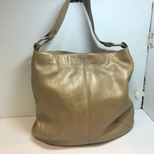 Hobo Gold Pebbled Leather Tote