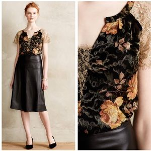 •HD in Paris• NWT Anthro Disa Velvet Burnout