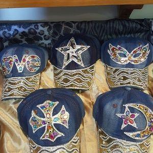 Blue Jean Bling Hats