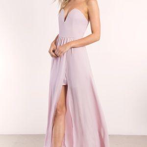 Tobi Sweet Heart Maxi Dress: Krystal Lilac Size: L