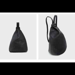 Zara real leather 2 way bag