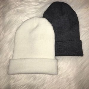 White and Grey Beanies