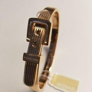 MK Rose Gold Tone Buckle Bracelet
