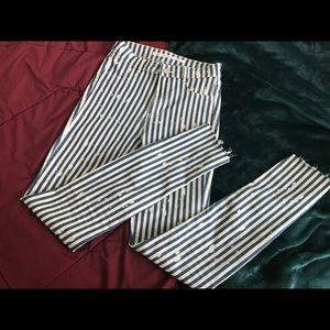 Striped zara jeggings!