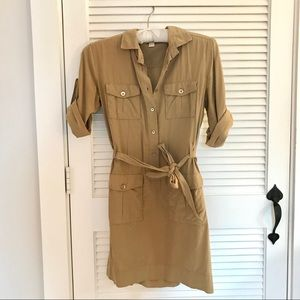 J. Crew Silk Shirtdress