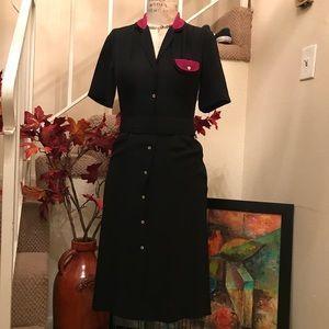 Bernadette Reiss Classic Black Dress Size 3/4 NEW