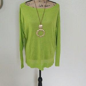 Ralph Lauren lime green crew neck sweater