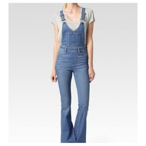 Paige Rialta High Rise Flare Overall NWT