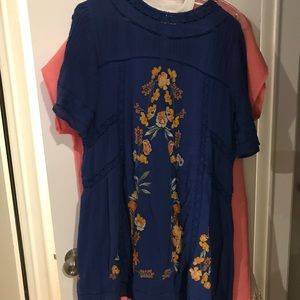 Free People Perfectly Victorian Minidress Cobalt