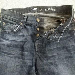 7 FAMK Standard Buttonfly Jeans