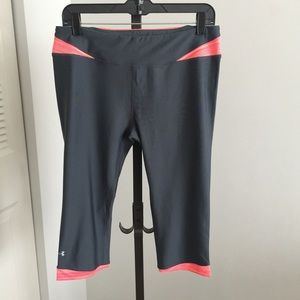 Under Armour Heat Gear Fitted Cropped Pants - Lg