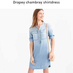 J.Crew Chambray Shirtdress